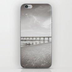 Johnny Mercer's Fishing Pier Wrightsville Beach NC Sepia Black and White iPhone & iPod Skin
