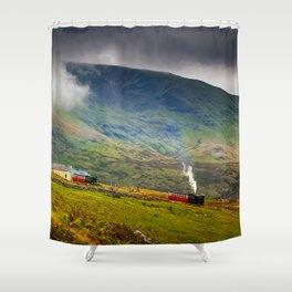 Steam Trains To The Summit Shower Curtain