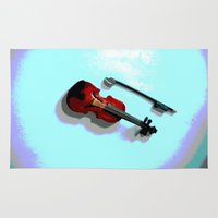 violin Area & Throw Rugs featuring Violin by Vitta
