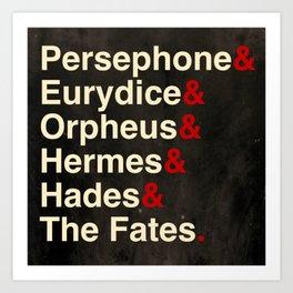 Hadestown The Musical Art Print