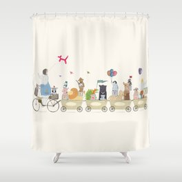 playtime parade Shower Curtain