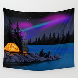 Camping Scenic Wall Tapestry