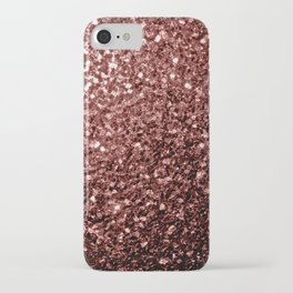 Beautiful Glam Marsala Brown-Red Glitter sparkles iPhone Case