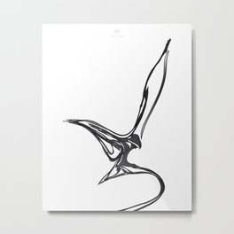 Swallow 1.Black on white background. (ZOOM) Metal Print
