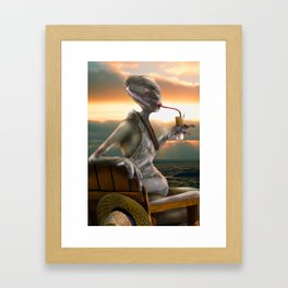 Alien Abroad Framed Art Print