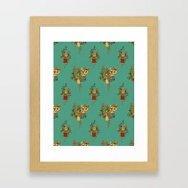 Fox and Scissors Framed Art Print