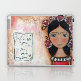 Frida in Rose by Flor Larios Laptop & iPad Skin