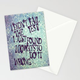 I Did Not Fail (ver. 2) Stationery Cards
