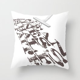 cleanliness is half of faith Throw Pillow