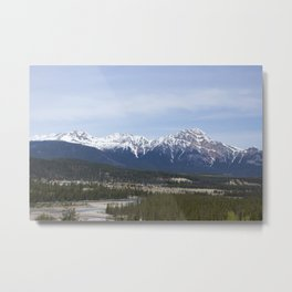 In the Shadow of the Mountain Metal Print