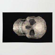 Polygons skull black Rug