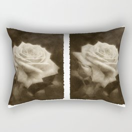 Pink Roses in Anzures 3 Antiqued Rectangular Pillow