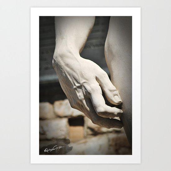 "The Hand of ""David di Michelangelo"", Florence Tuscany Art Print"
