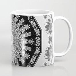 Shades of Grey - Geometric Floral Pattern Coffee Mug