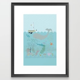 The Boy and the Sea Framed Art Print