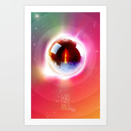 Lord of the Rings. The Eye of Sauron. What Frodo Saw. Art Print