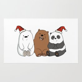 we bare bears christmas Rug