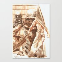 silent hill Canvas Prints featuring Silent Hill b by Joseph Silver