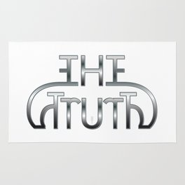 """The Truth"" mirror image design Rug"