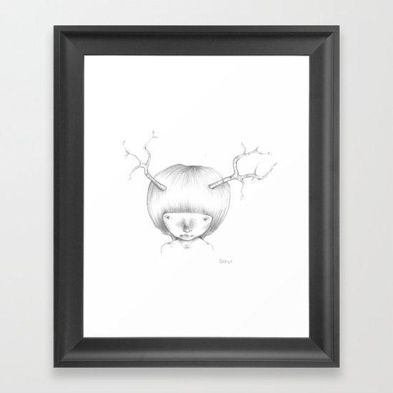 Tree Horns Framed Art Print