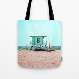 California Lifeguard Tower Tote Bag