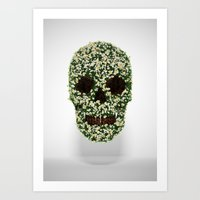pushing daisies Art Prints featuring Pushing up Daisies by Luke Dwyer - Artist