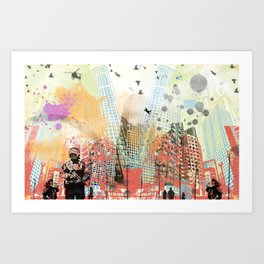 A tale of two cities 1 Art Print