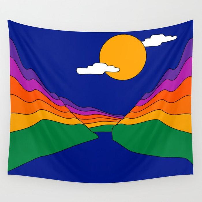 Rainbow Ravine Wall Tapestry