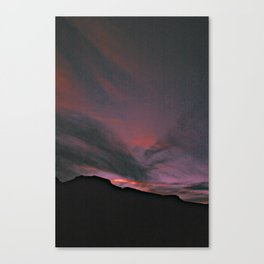 red in the sky Canvas Print