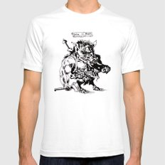 Ontok the Meaty White Mens Fitted Tee SMALL