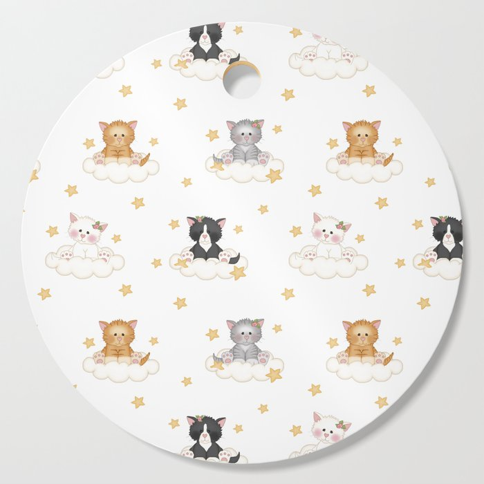 Cat Kitten Baby Girl Nursery Room Decor Cutting Board