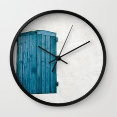 Old blue store Wall Clock