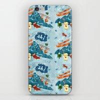 ski iPhone & iPod Skins featuring Ski Pattern by Christiane Engel
