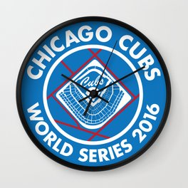 Cubs World Series 2016 Wall Clock