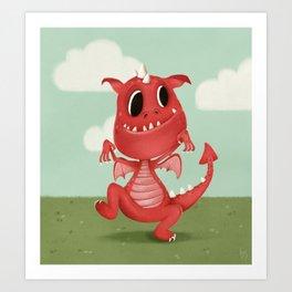 The Scariest Dragon Art Print
