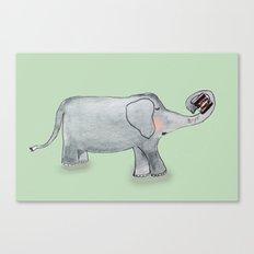 Elefant In Love Canvas Print