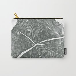 Locust Tree ring image, woodcut print Carry-All Pouch