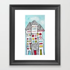 White Houses Framed Art Print