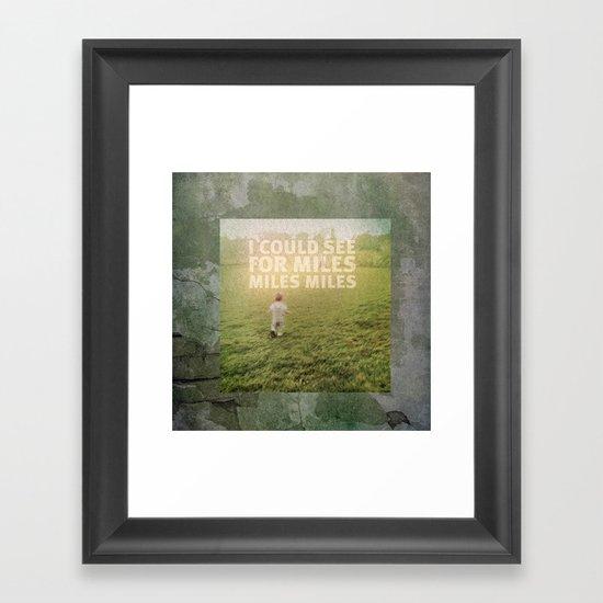Miles Framed Art Print