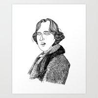 oscar wilde Art Prints featuring Oscar Wilde by Sparganum