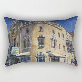 Lensic Theater and Burro, Santa Fe Rectangular Pillow