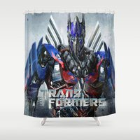transformers Shower Curtains featuring Budget Gift Transformers 4 by custompro