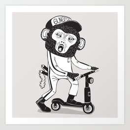 Gung Foo Chimp Art Print