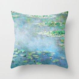 Monet Water Lilies / Nymphéas 1906 Throw Pillow