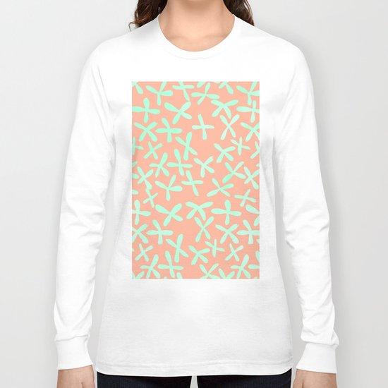 Sweet Life Firefly Peach Coral + Mint Meringue Long Sleeve T-shirt
