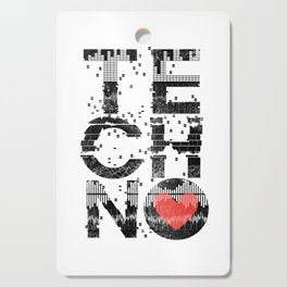 Love Techno Music Cutting Board