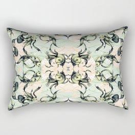 Goldfish Motif # Green & Yellow Rectangular Pillow