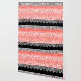 crochet lace in red Wallpaper