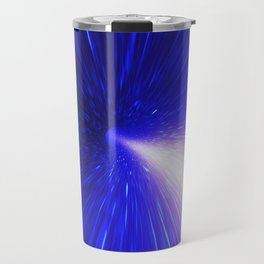 High energy particles traveling through space-time Travel Mug