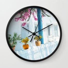 Small Orange Tree Wall Clock